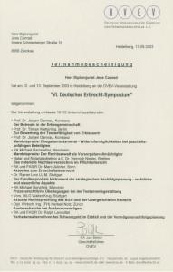 VL Deutsches Erbrecht - Symposium