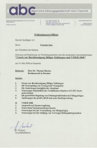 Gesetz zur Bezahlung fälliger Zahlungen und VOB/B 2000